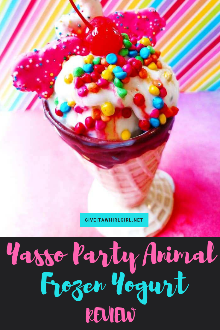 Yasso frozen yogurt party animal review
