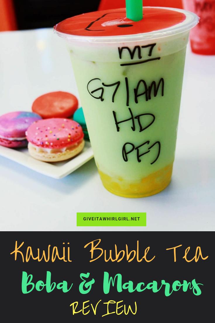 Kawaii Bubble Tea Boba and Macarons REVIEW
