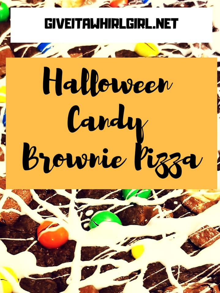 Halloween Candy Brownie Pizza