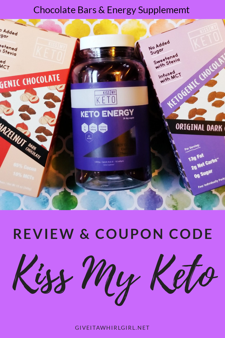 KISS MY KETO - Coupon Code - Chocolate Bar & Energy Supplement REVIEW
