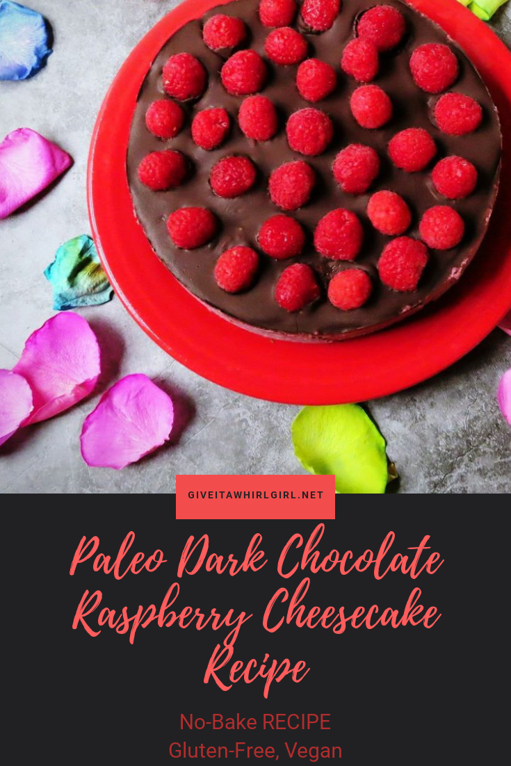 Paleo Dark Chocolate Raspberry Cheesecake RECIPE Gluten-Free and Vegan
