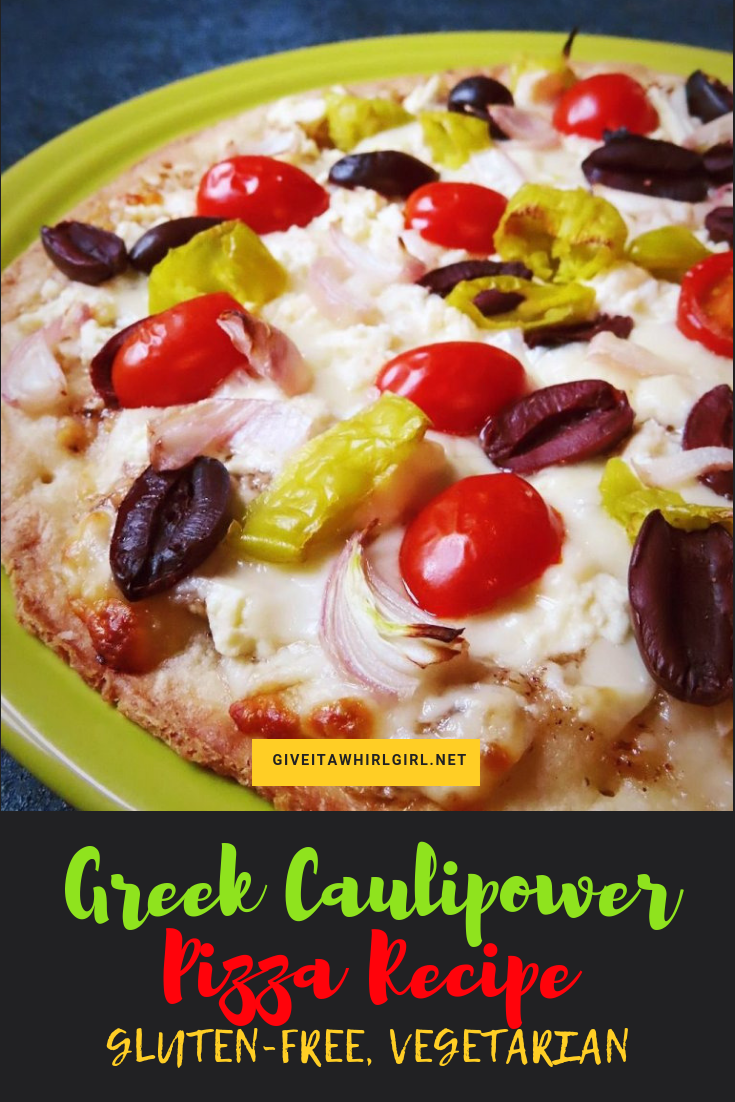 Greek Caulipower Pizza RECIPE Gluten-Free, Vegetarian